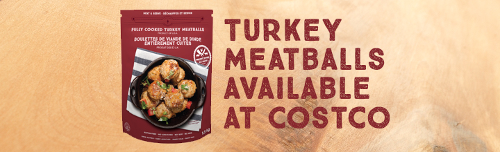 Back at Costco for 2017! Fully Cooked Turkey Meatballs