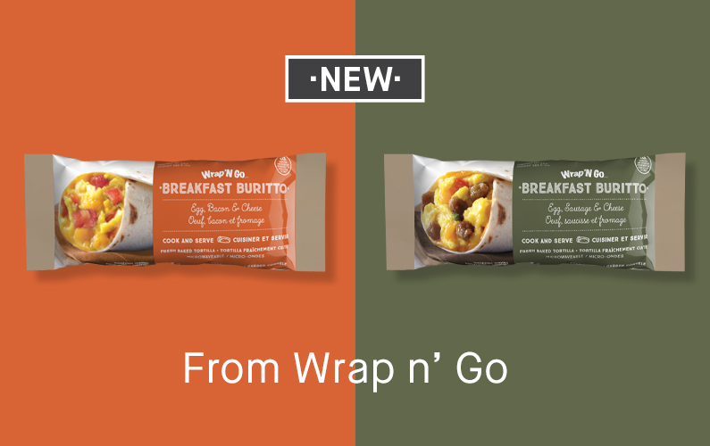 New From Wrap n' Go – Convenient Breakfast Burritos
