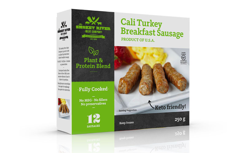 Smokey River Blends Plant & Protein Turkey Sausage Links